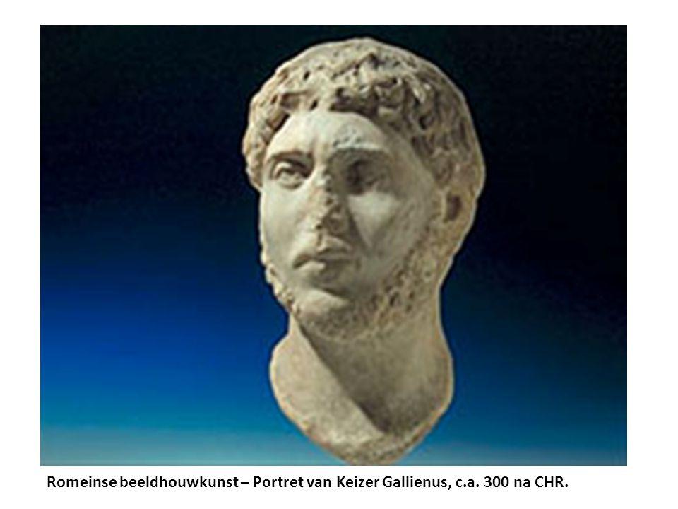 Romeinse beeldhouwkunst – Portret van Keizer Gallienus, c.a. 300 na CHR.