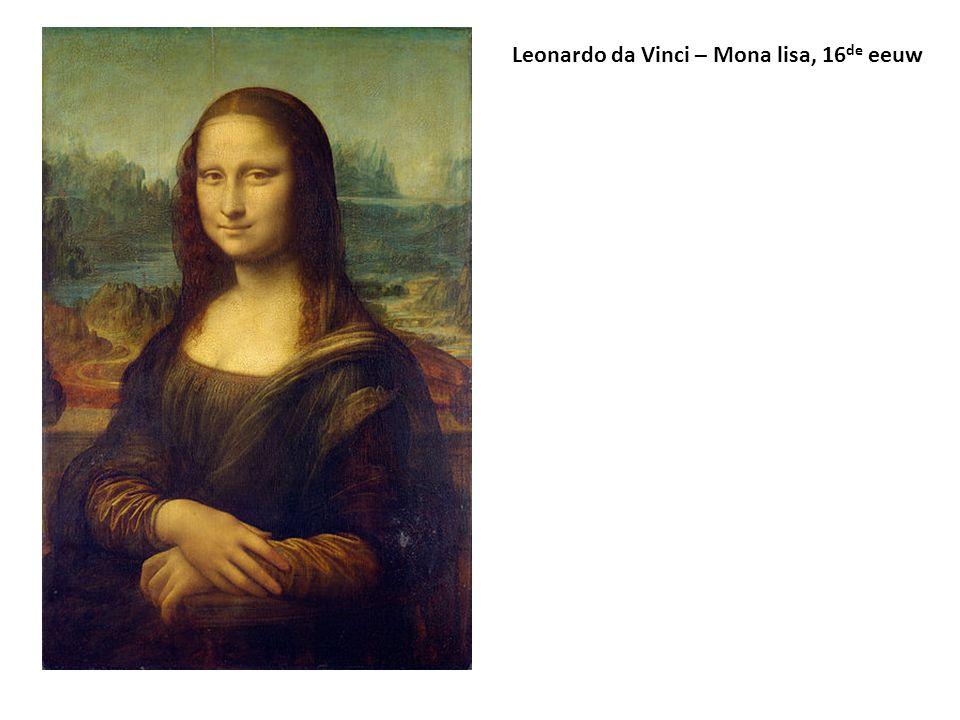 Leonardo da Vinci – Mona lisa, 16 de eeuw