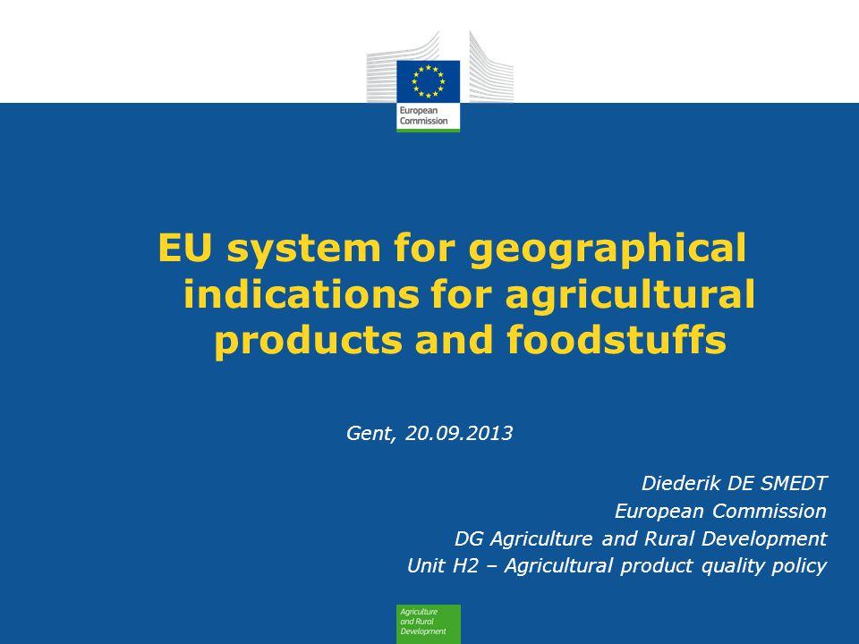 Content 1. EU schemes 2. Benefits 3. Content of application 4. Statistics 2