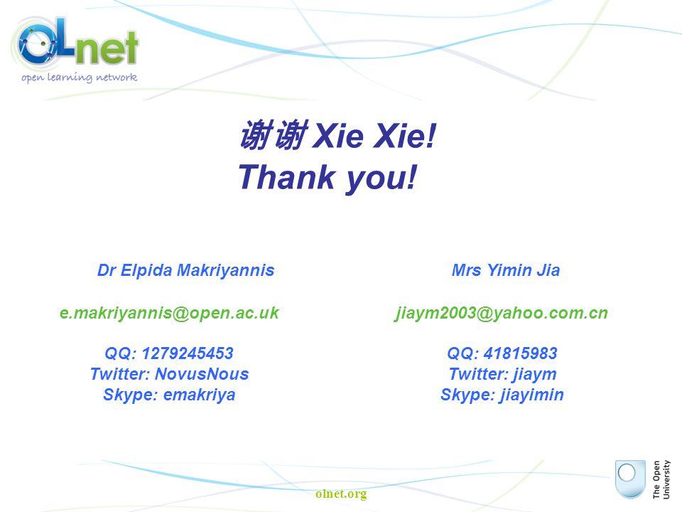 olnet.org 谢谢 Xie Xie. Thank you.