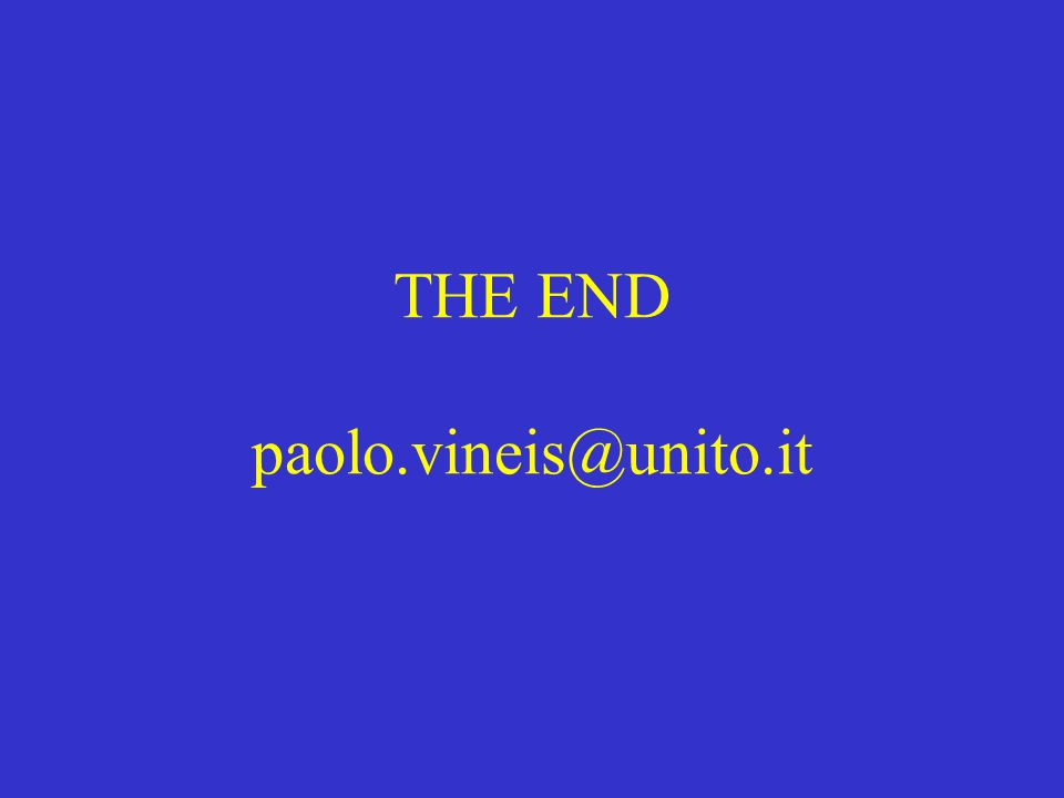 THE END paolo.vineis@unito.it