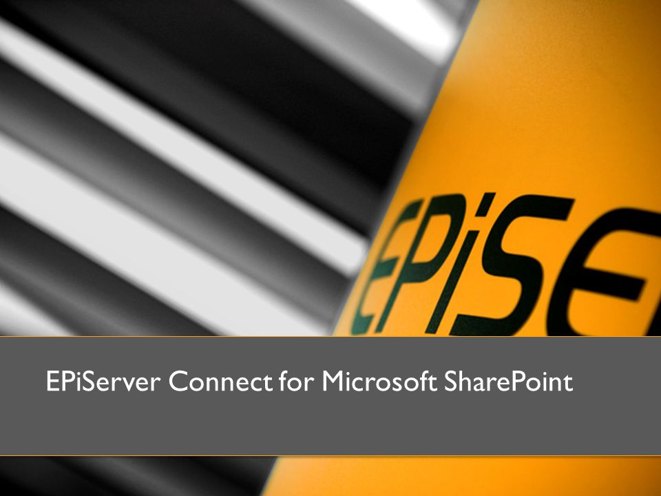 EPiServer Connect for Microsoft SharePoint
