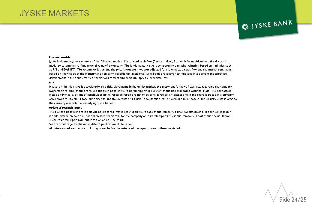 JYSKE MARKETS Side 24/25
