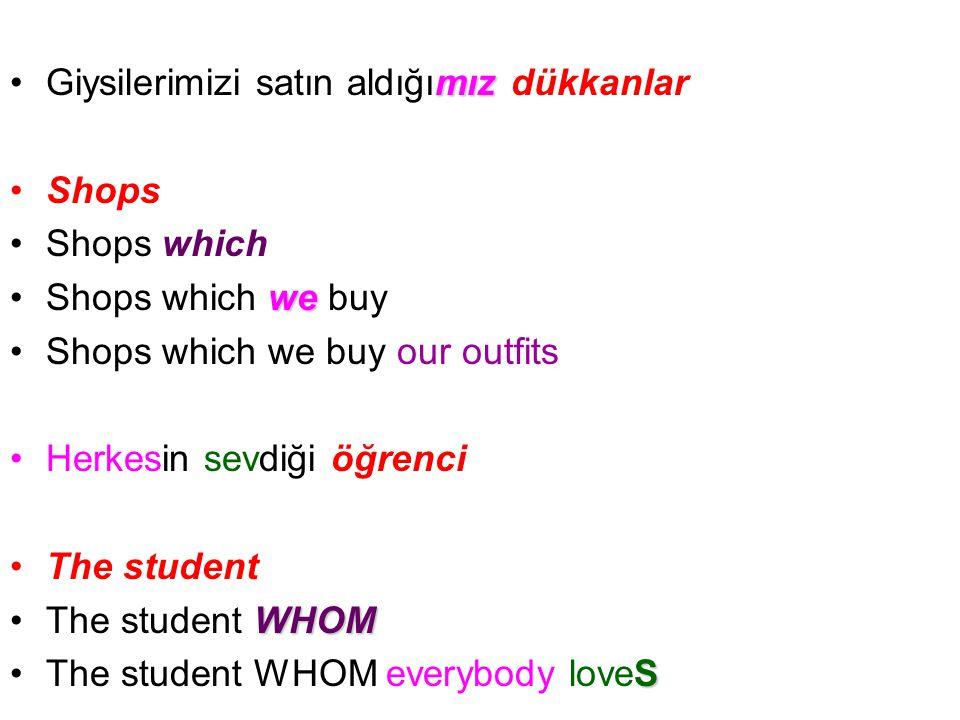 mızGiysilerimizi satın aldığımız dükkanlar Shops Shops which weShops which we buy Shops which we buy our outfits Herkesin sevdiği öğrenci The student