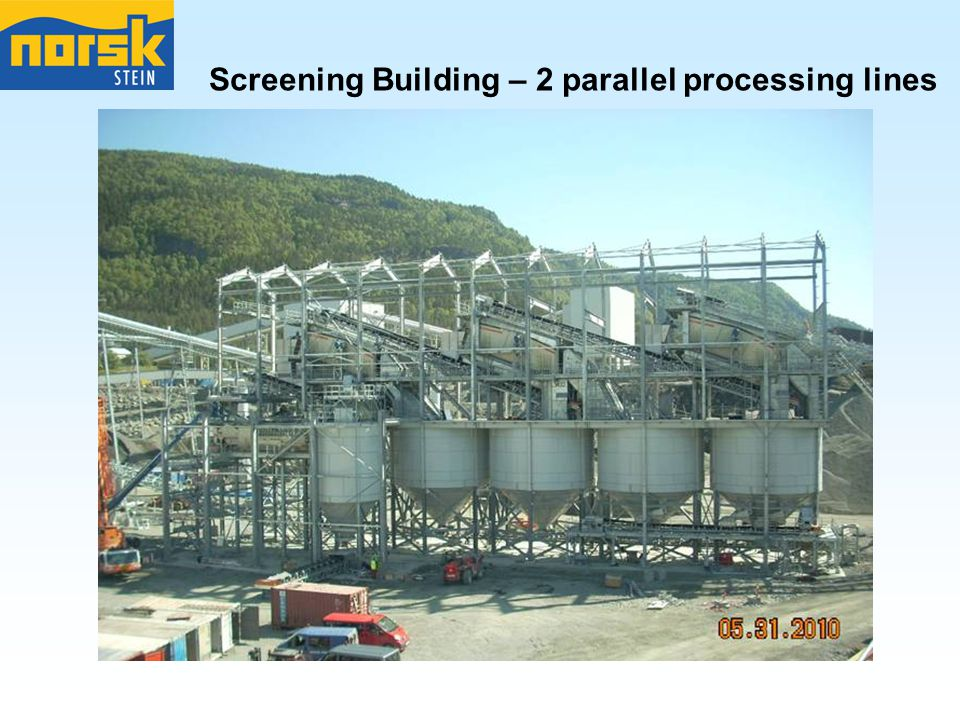 Screening Building – 2 parallel processing lines