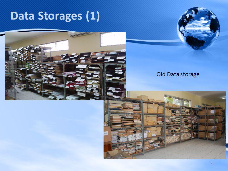23 Data Storages (1) Old Data storage