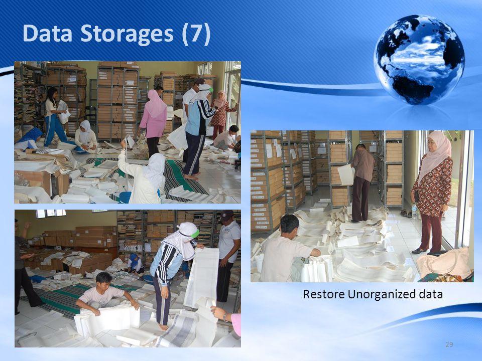 29 Data Storages (7) Restore Unorganized data