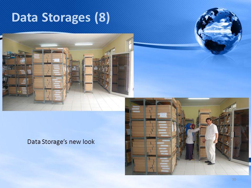 30 Data Storages (8) Data Storage's new look