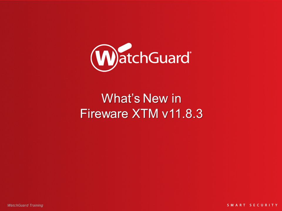 What's New in Fireware XTM v11.8.3  Support for Firebox T10  Wireless Enhancements Gateway Wireless Controller Dashboard shows statistics for WatchGuard AP devices [78128] Wireless System Status page shows statistics and connected clients for XTM wireless access points [77757] New XTM wireless mode for 802.11g and 802.11n [65404]  Mobile VPN with SSL client update [77562]  Netgear 341U 3G/4G modem support [78226]  XTM Configuration Report Enhancements [78448, 78429, 78392, 78391, 78201, 78172, 72947, 76980, 78390]  Download support.tgz file option moved to the System Status pages in Fireware XTM Web UI [78038] WatchGuard Training 2