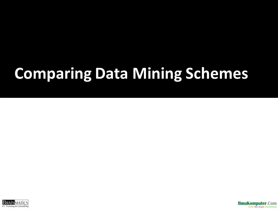 Comparing Data Mining Schemes