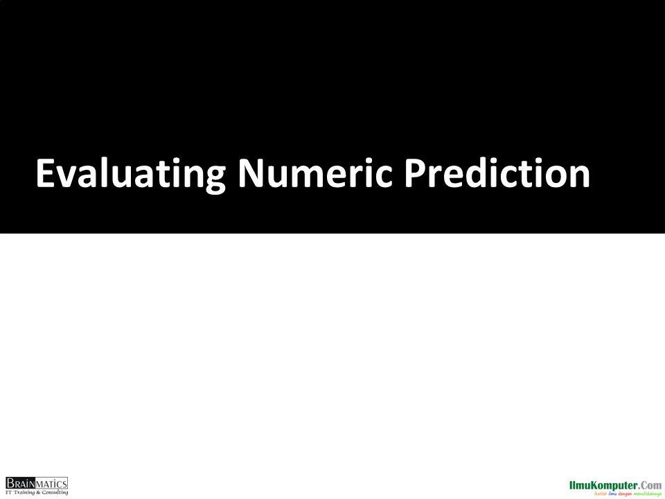 Evaluating Numeric Prediction