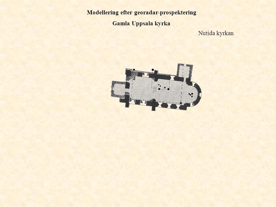 Nutida kyrkan Modellering efter georadar-prospektering Gamla Uppsala kyrka