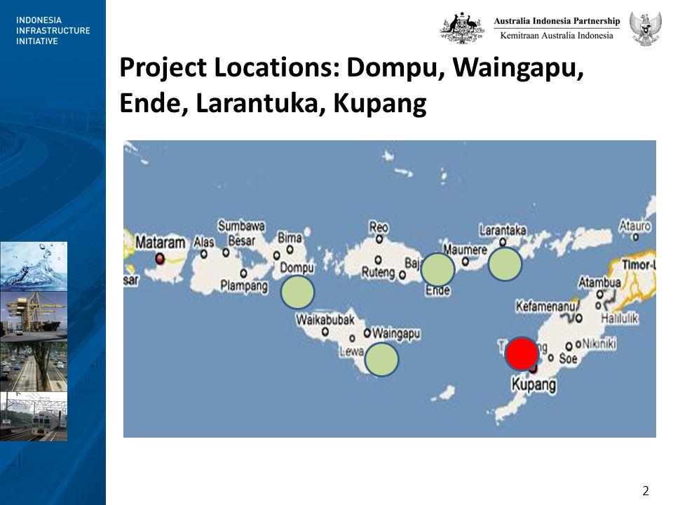 3 PDAMs in NTT/NTB are characterised by: Tariffs that do not recover costs Inadequate investment Intermittent flow of water Too many employees High water losses Low level of expertise Lack of recognition by local governments of their responsibility for water services PDAMs in NTT/NTB: Small and Weak