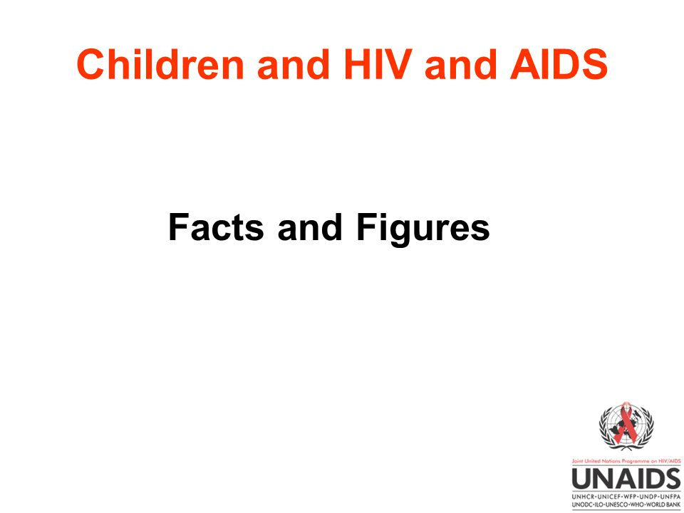 Children and HIV and AIDS Facts and Figures