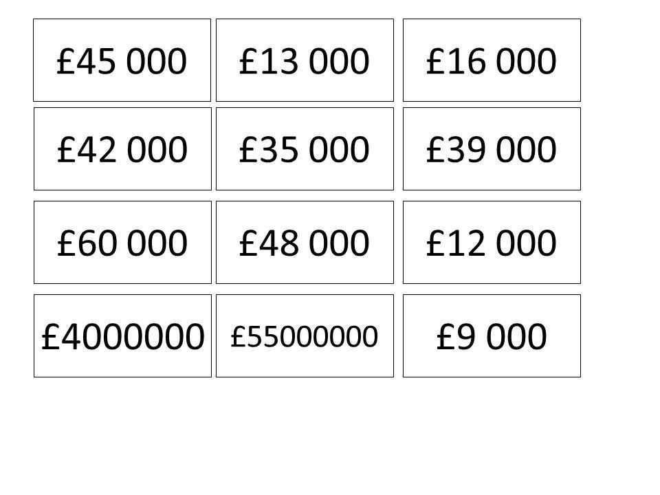 £45 000£13 000£16 000 £42 000£35 000£39 000 £60 000£48 000£12 000 £4000000 £55000000 £9 000