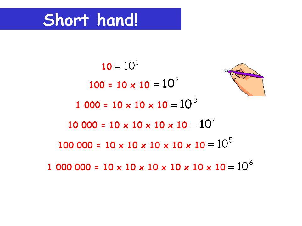 Short hand.
