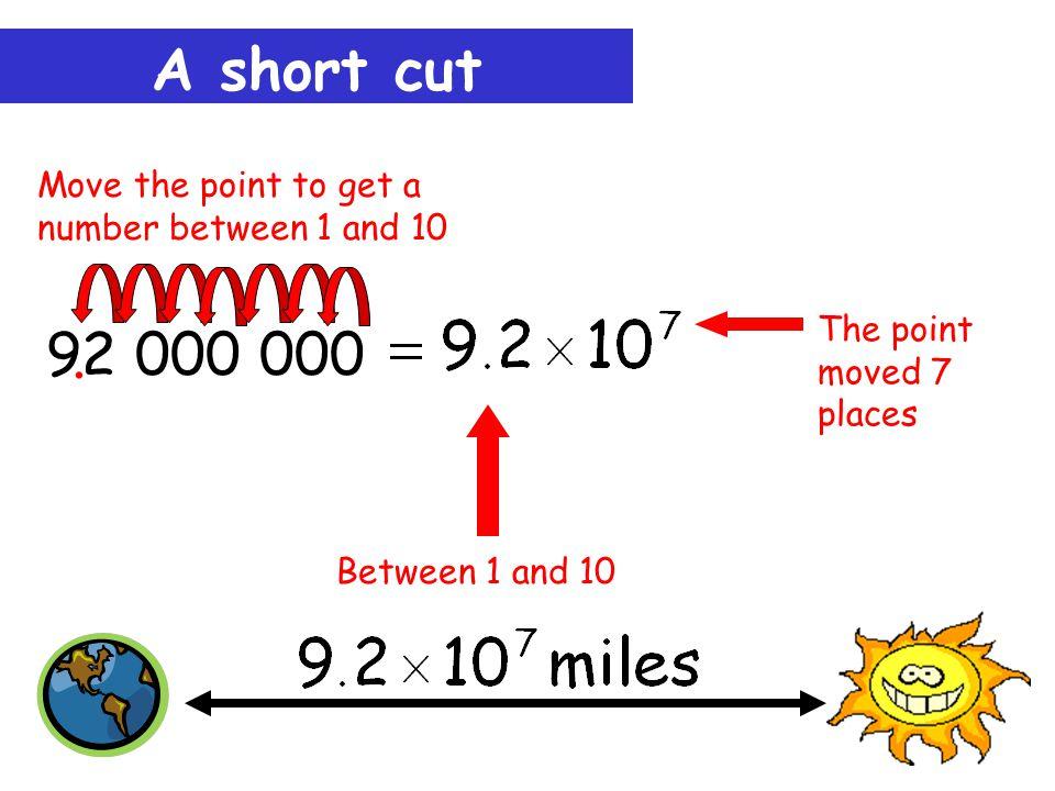 A short cut 92 000 000..