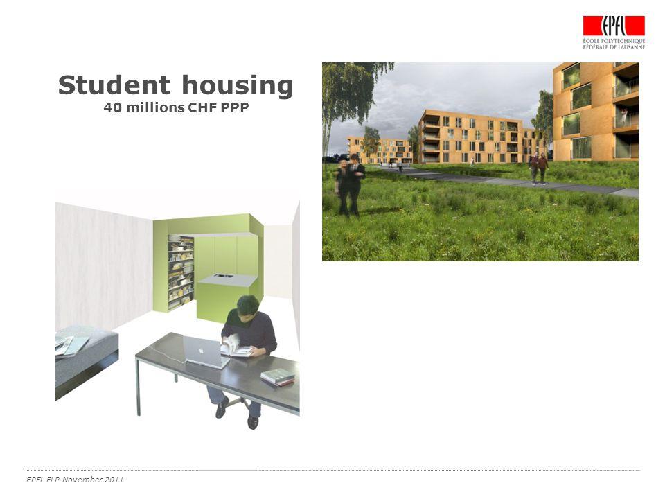 EPFL FLP November 2011 Student housing 40 millions CHF PPP