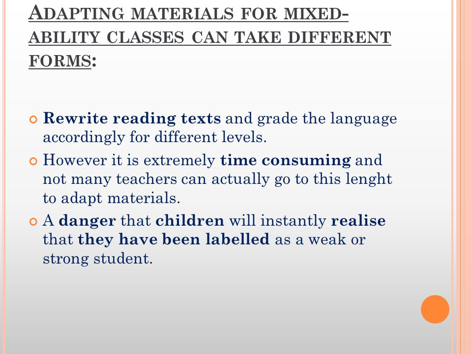  STUDENT SELF-AWARENESS: - encourage students to develop an awareness of their own language abilities and learning needs