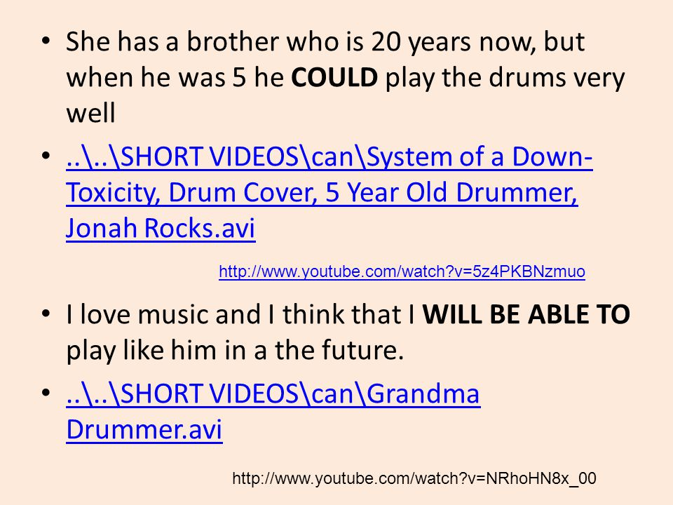 She has a brother who is 20 years now, but when he was 5 he COULD play the drums very well..\..\SHORT VIDEOS\can\System of a Down- Toxicity, Drum Cove