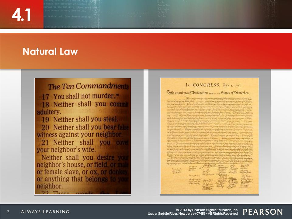 © 2013 by Pearson Higher Education, Inc Upper Saddle River, New Jersey 07458 All Rights Reserved 4.6 Explain what is meant by the elements of a specific criminal offense.