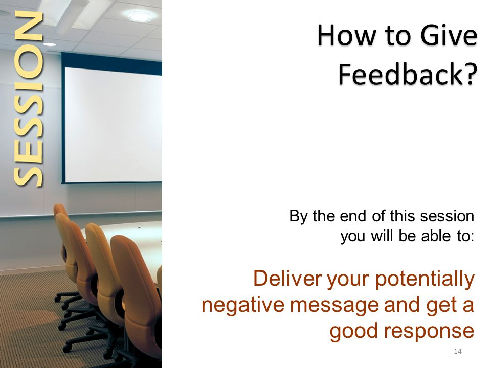How to Give Feedback.