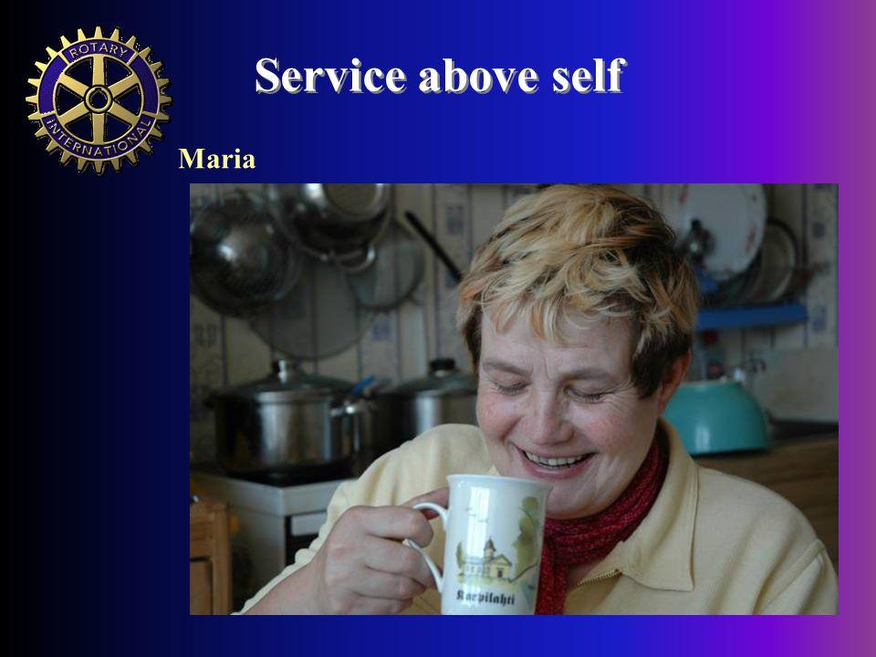 Service above self Maria
