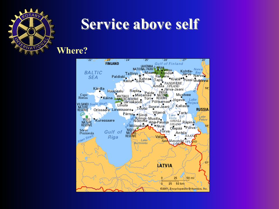 Service above self Where