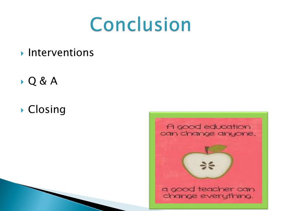  Interventions  Q & A  Closing