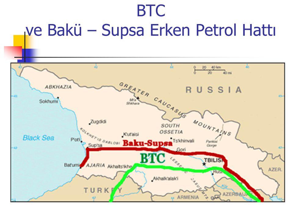 BTC ve Bakü – Supsa Erken Petrol Hattı