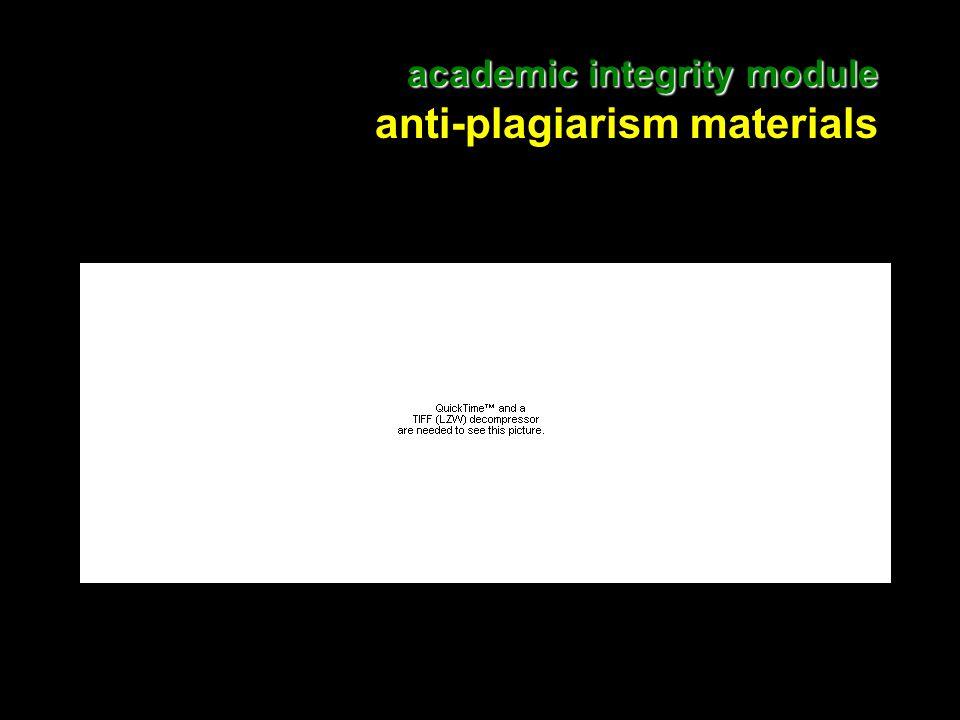 10 academic integrity module academic integrity module anti-plagiarism materials