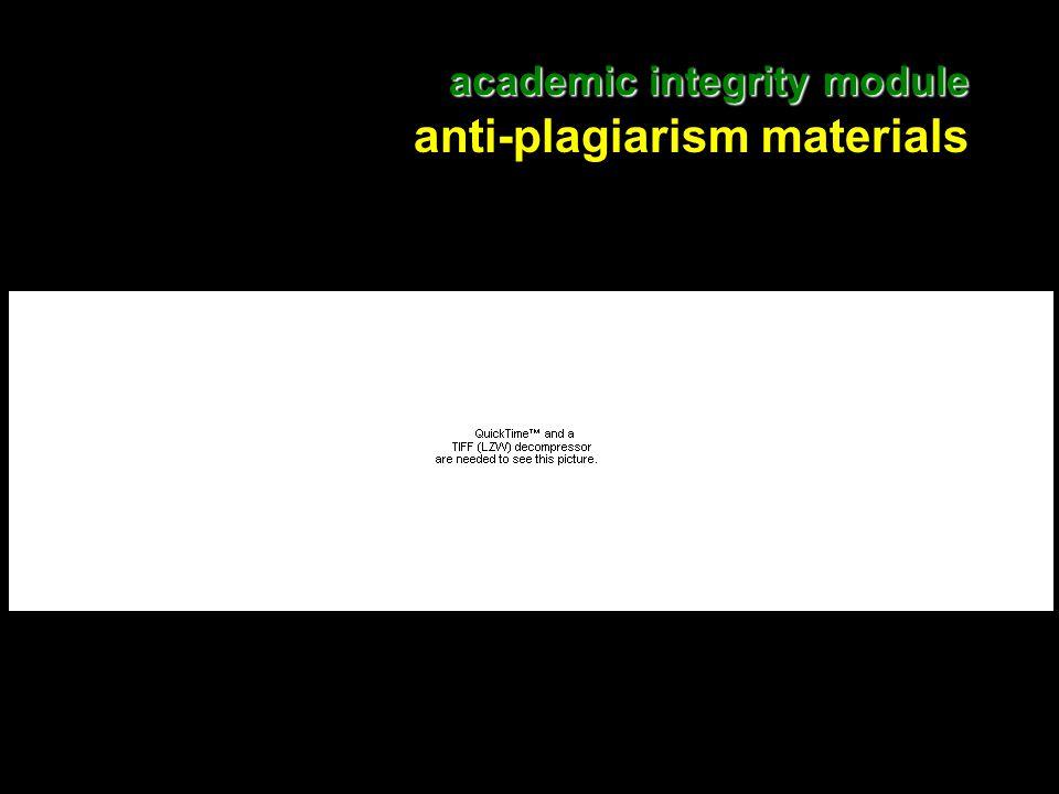 11 academic integrity module academic integrity module anti-plagiarism materials