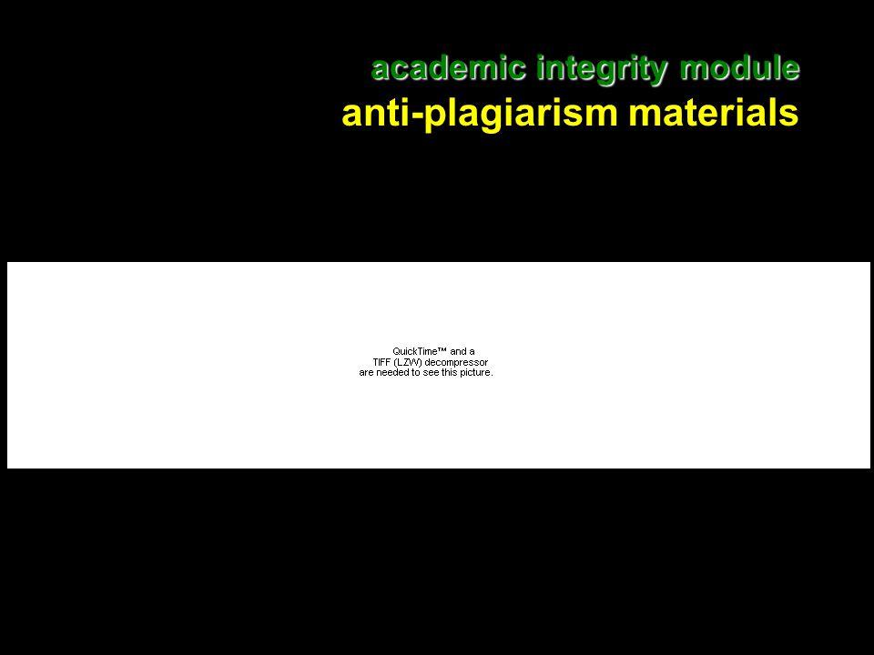 13 academic integrity module academic integrity module anti-plagiarism materials