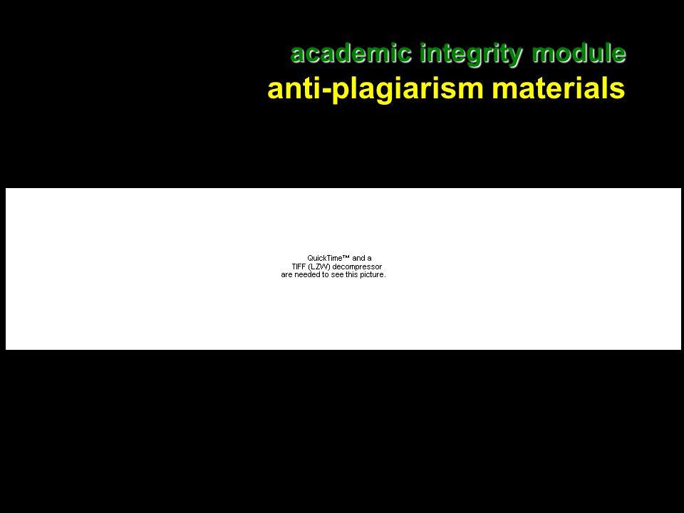 14 academic integrity module academic integrity module anti-plagiarism materials
