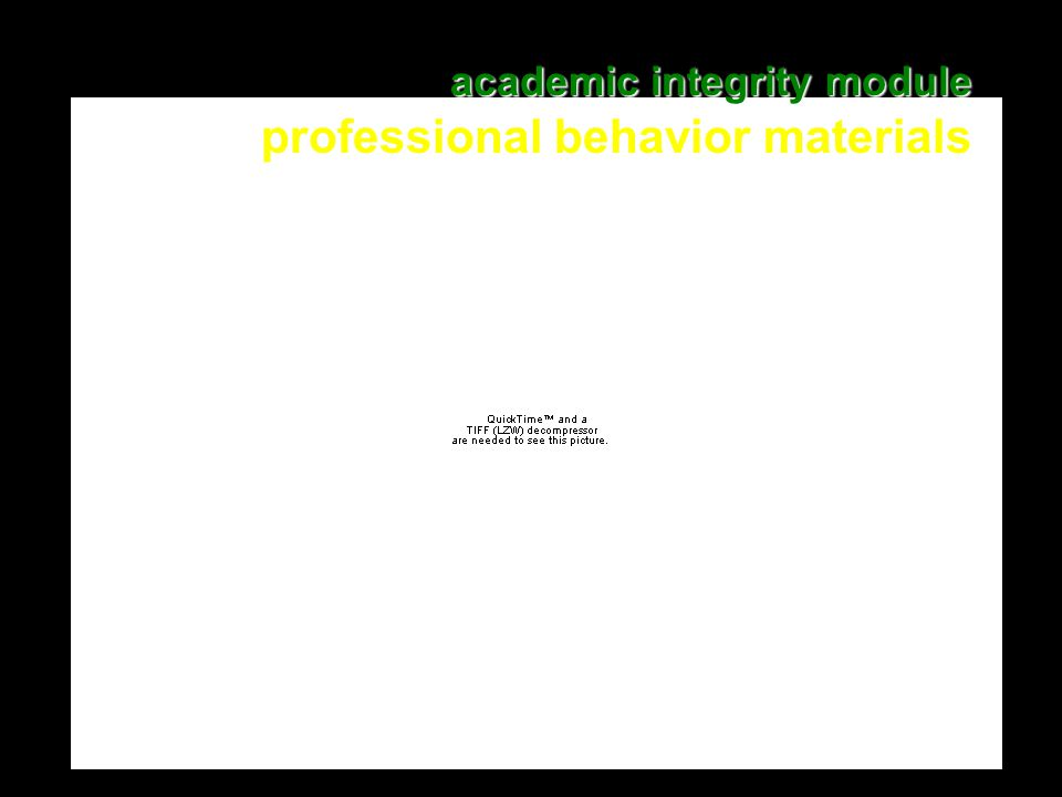 15 academic integrity module academic integrity module professional behavior materials