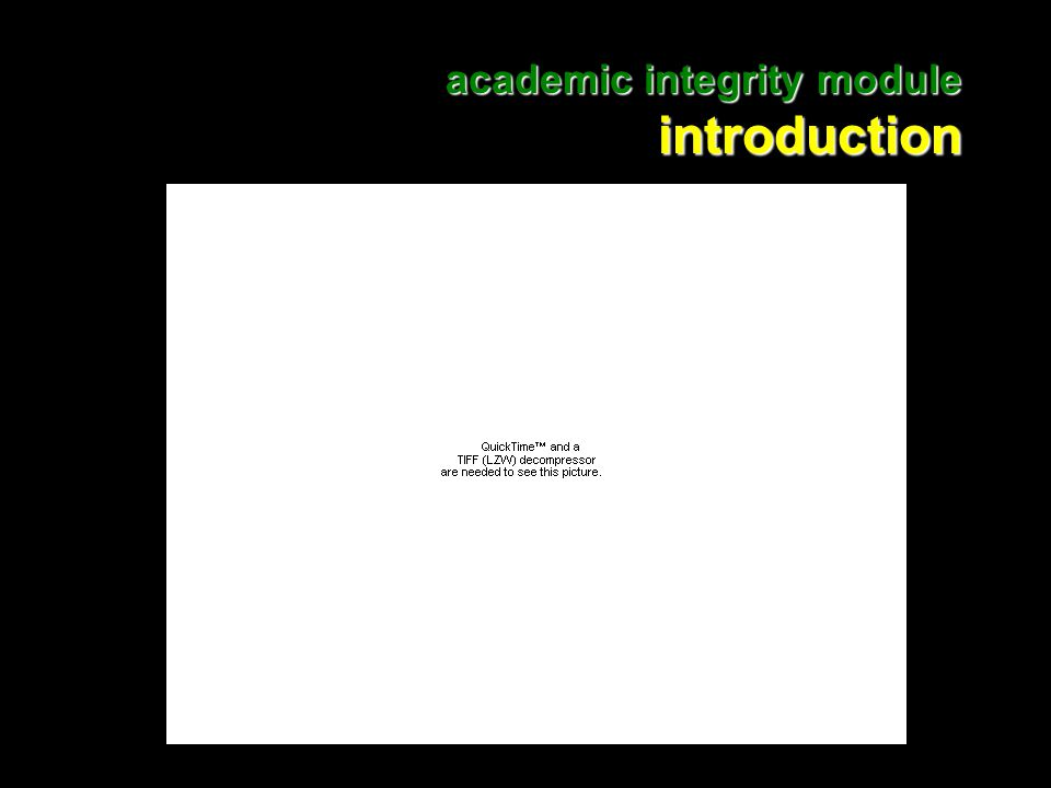 2 academic integrity module introduction