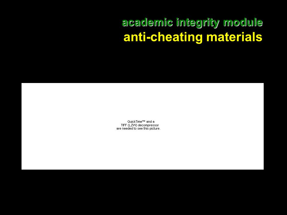4 academic integrity module academic integrity module anti-cheating materials