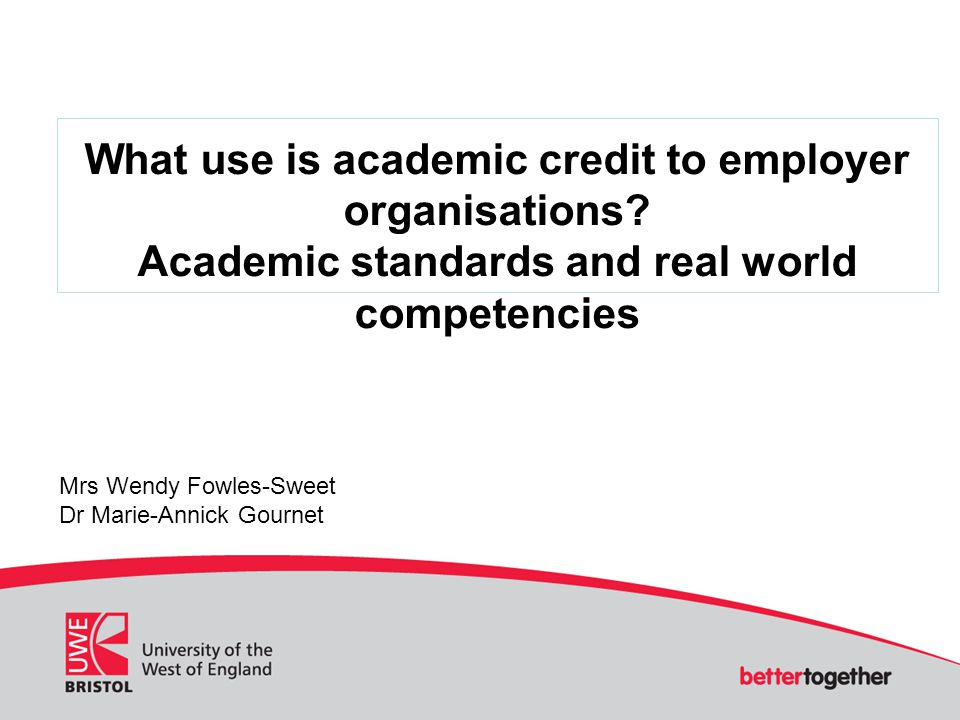 What use is academic credit to employer organisations.