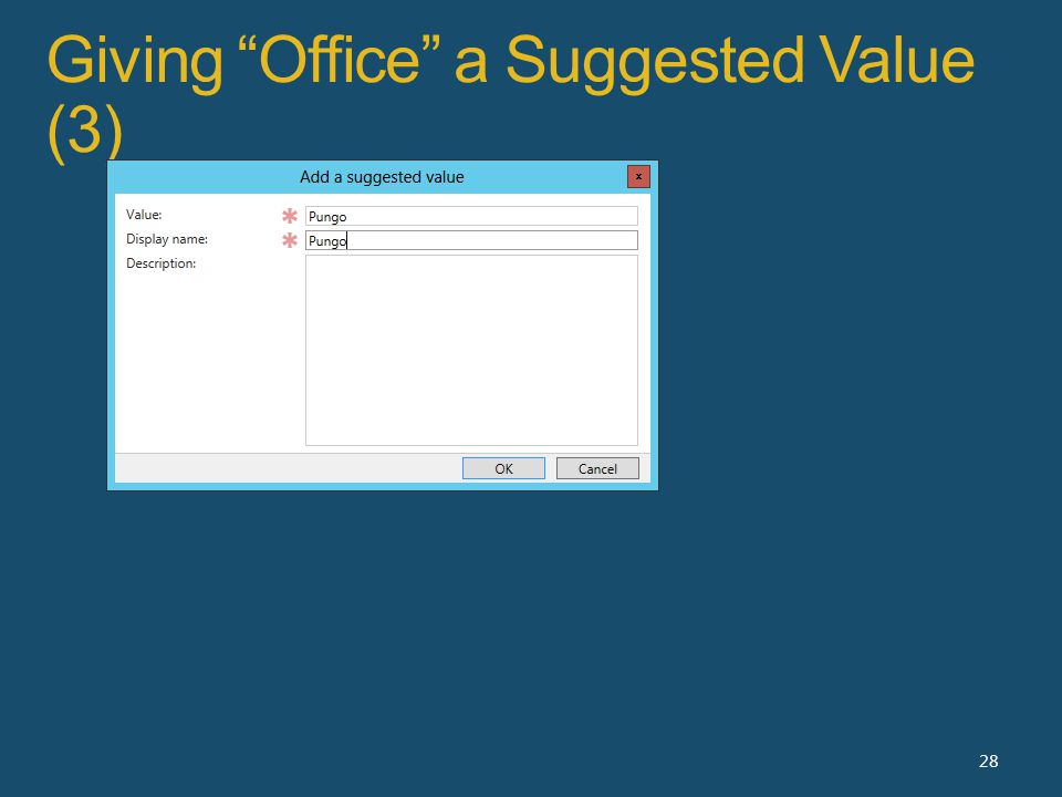 Giving Office a Suggested Value (3) 28