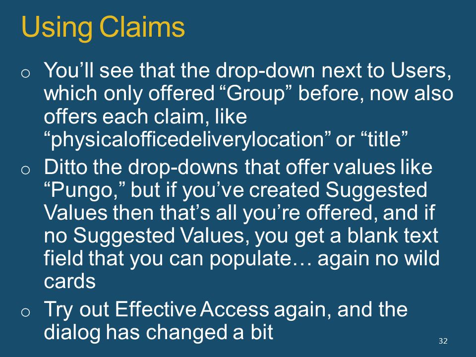 Using Claims 32