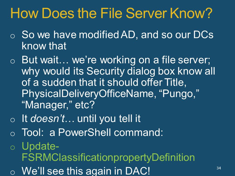 How Does the File Server Know 34