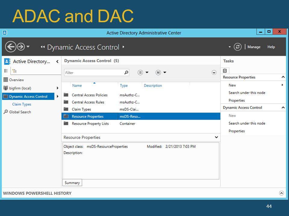 ADAC and DAC 44