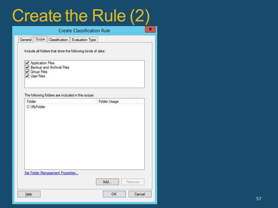Create the Rule (2) 57