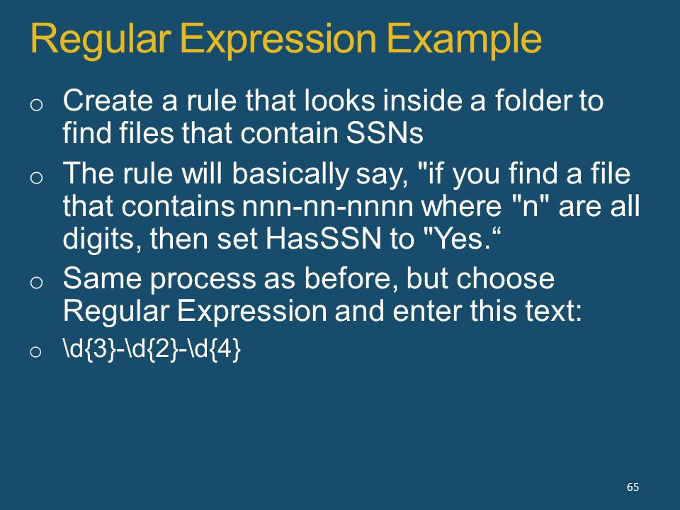 Regular Expression Example 65