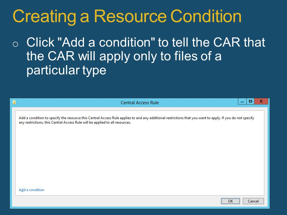 Creating a Resource Condition 75