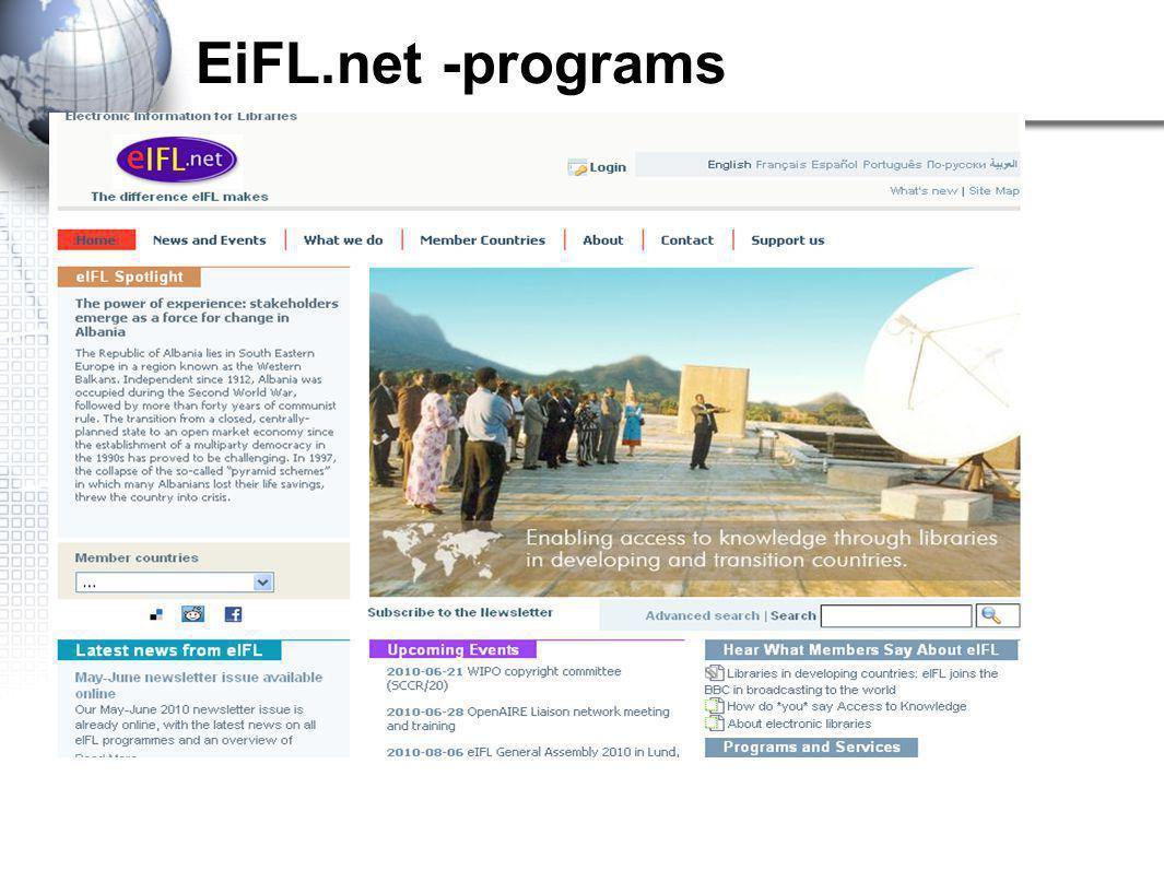 EiFL.net -programs