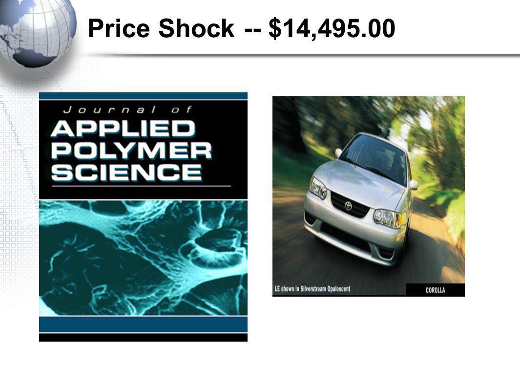 Price Shock -- $14,495.00