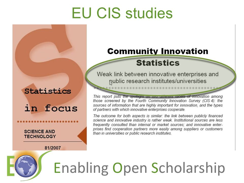 Enabling Open Scholarship EU CIS studies