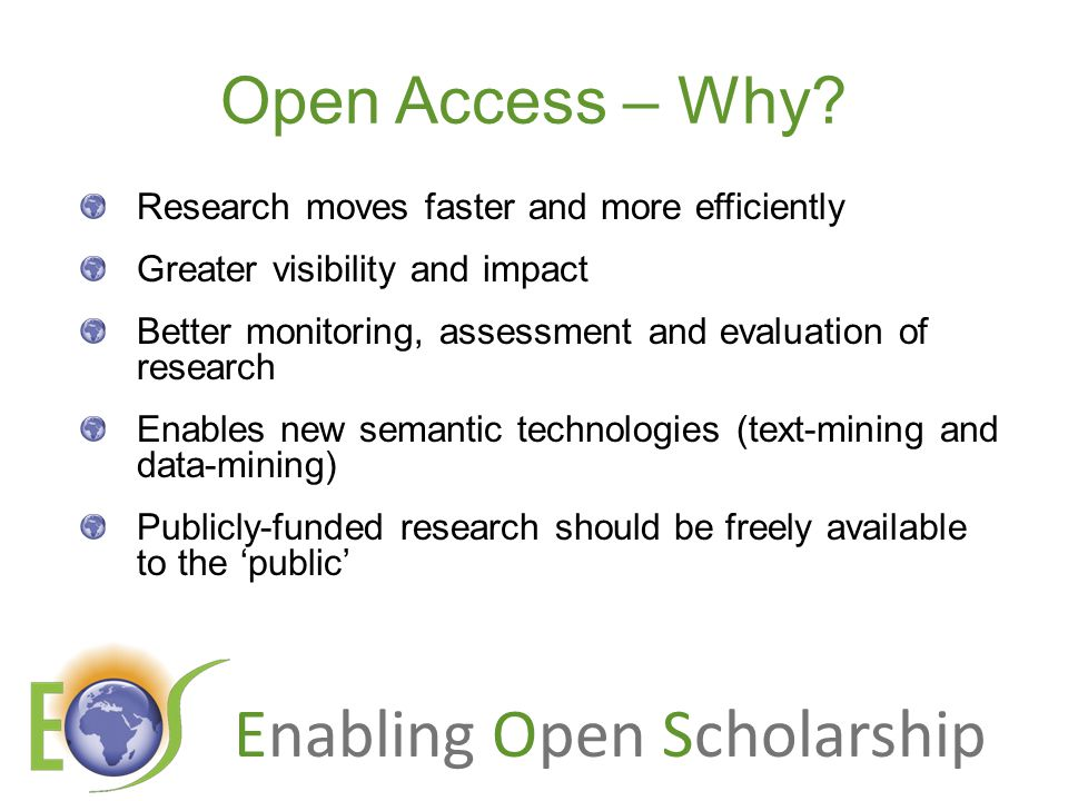 Enabling Open Scholarship Ray Frost's impact