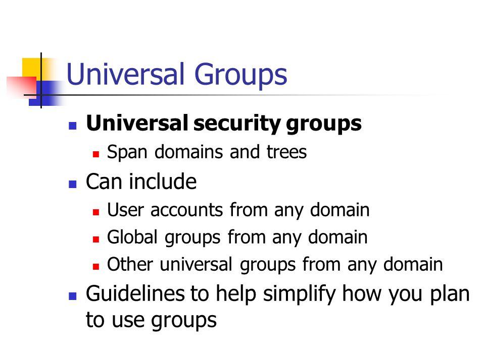 Universal Groups